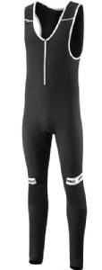 Madison Sportive Shield Softshell Mens Bib Tights With Pad  - Dual fabric construction features a waterproof and windproof softshell fabric