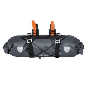 Ortlieb Bikepacking Handlebar Bag M - Two straps and eight spaces for attaching to different handlebar types