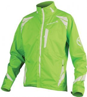 Endura Luminite 2 Waterproof Jacket Hi-viz Green 2017 - Luminite LED light unit integrated into the rear pocket for additional security