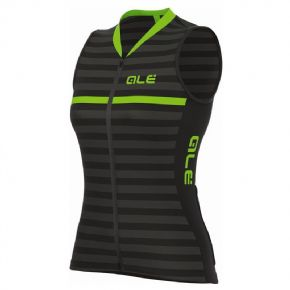 Ale Solid Surf Sleeveless Womens Jersey Black/fluro Green Large  2018 - High visibility on the road for the rainy days in autumn.