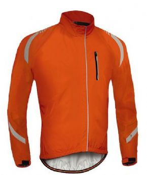 Specialized Deflect Rbx Elite Hi-vis Rain Jacket  - Small Orange Only 2017 - High visibility on the road for the rainy days in autumn.