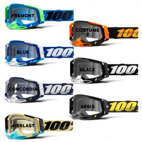 100% Racecraft 2 Clear Lens Goggles  2021 -
