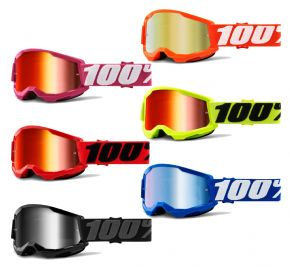 100% Strata 2 Mirror Lens Youth Goggles  2021 -